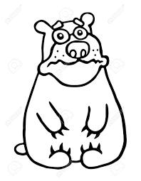 かわいい悲しいクマベクトル イラスト面白い漫画の動物キャラクター