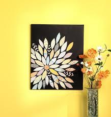 canvas painting ideas sbook paper pieced flower diy art