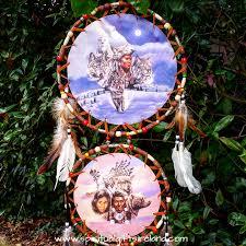 native american dreamcatcher wolf.  Dreamcatcher Native American Wolf Dreamcatcher Extra Large 3 Ring Owl 4 In
