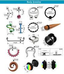 Body Jewelry Measurement Chart Body Jewelry Information Center