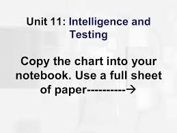 Stanford Binet Score Chart Unit 11 Intelligence And Testing Copy The Chart Into Your