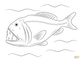 Small Picture Fangtooth Fish coloring page Free Printable Coloring Pages