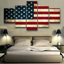 wall arts patriotic wall art flag of home decor in garden plaques signs wood rustic