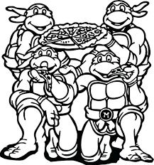 Teenage Mutant Ninja Turtles Coloring Pages Turtle Printable