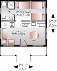 20x20 tiny house cabin plan 400 sq ft