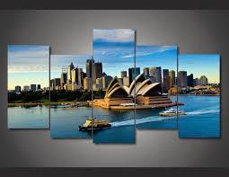 aliexpress com acquista 5 pannelli su tela stampa sydney opera