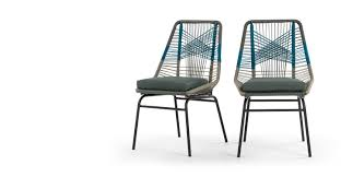 unusual dining furniture. 2 X Copa Outdoor Dining Chairs, Cool Blue Unusual Furniture M