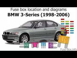 fuse box location and diagrams bmw 3 2002 Bmw 330xi Fuse Box Diagram Fuel Pump Inertia