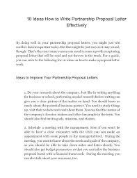 Partnership Proposal Samples Partnership Proposal Letter Infinite Recent Drawing Writing