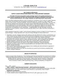 Procurement Manager Resume Sample Global Business Developer Resume