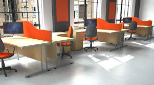 space office furniture. Office Desk Space Through Organisation. Orange Booths Furniture F