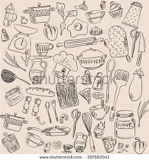 set of hand drawn cookware vector ilration this stock vector on shutterstock find other images