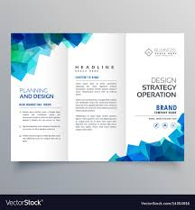 Tri Fold Brochure Layout Business Trifold Brochure Layout Template With Vector Image