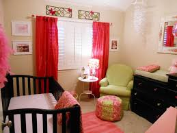 fascinating decoration of girl room ideas pictures showing white wall with black varnished wooden cradle and