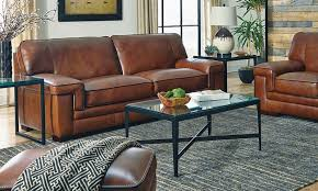 picture of chestnut stampede leather sofa
