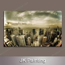 large wall paintingsBuilding Groups from the Space of Large Printed Modern Canvas Oil