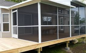 screened in porch for mobile home
