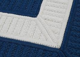 transitional living room decor navy blue white area rug rectangle braided textured wool new zealand solid border and rugs with originalviews black striped