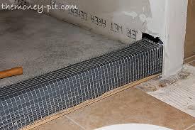 master bathroom days 11 13 shower curb waterproofing and floor repair