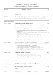 Team Skills Resume Full Guide Production Team Leader Resume 12 Samples