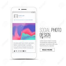 Picture Frame Design App Social Photo Frame Vector Mobile App Communication Design Smartphone