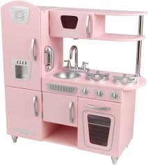amazon com kidkraft vintage kitchen in pink toys games