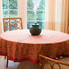 jaipur palace pink round tablecloth 70