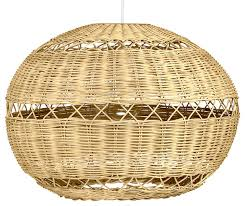 open weave wicker ball pendant lamp natural brown tropical pendant lighting by kouboo
