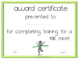 K Race Certificate Fun Run Template Definition Biology