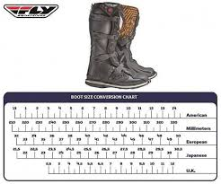 Fox Youth Boots Size Chart Fly Racing Youth Boot Size Chart Best Picture Of Chart