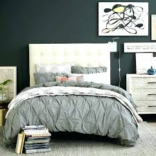 organic cotton pintuck duvet cover shams grey duvet cover king size organic cotton shams feather gray