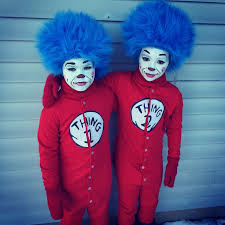 thing 1 and thing 2 costumes and face painting ideas mittens custom made by wewearcrochet etsy
