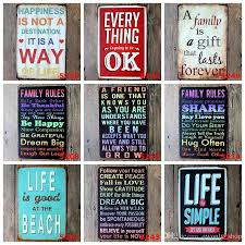 metal wall art vintage home decor life quote metal tin sign house decoration large size 20x30cm metal painting poster retro home decor metal wall art  on decorative metal wall art shop with metal wall art vintage home decor life quote metal tin sign house
