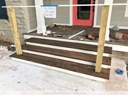 Front Stoop Design Plans Building The Front Porch Steps Part 2 Treads Risers