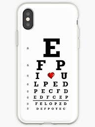 Eye Chart Optometry Optometrist Love Snellen Vision Iphone Case By Mantisarts