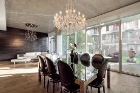 captivating image of dining room decoration using large round clear glass crystal dining room chandelier size