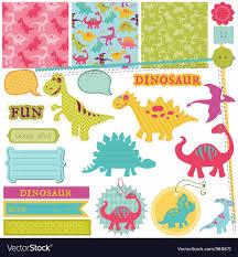 Art Design For Scrapbook Scrapbook Design Elements Baby Dinosaur Set