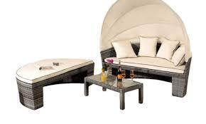 rattan sun lounger day bed outdoor garden furniture table canopy sofa set