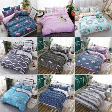 details about 4pcs modern pattern bedding duvet doona quilt cover bed sheet pillowcases set