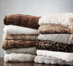 best variety pottery barn faux fur throw
