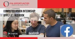 Computer Vision Internship Apply At Facebook Oya