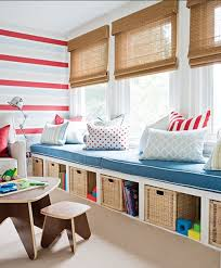 Kids Room Design: Nautical Style Childs Room With Organic Blinds And Blue  Accents - Playroom