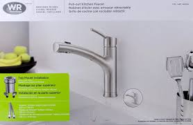 Kitchen Faucet Installation Instructions Water Ridge Brushed Nickel Pull Out Kitchen Faucet Fp2b0000