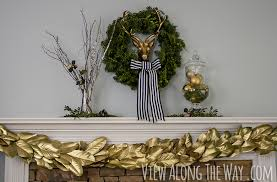 diy gold magnolia garland and surviving a deserted island
