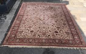 100 pure new wool hand knotted rug made in belgium
