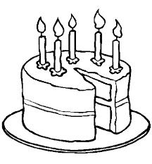 Printable Birthday Cakes Birthday Cake Coloring Pages Printable