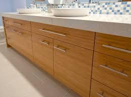 bamboo bathroom vanities. i love how the bamboo finish warms space of an otherwise stark bathroom. bathroom vanities pinterest