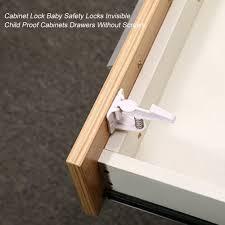 10pcs Safety Locks Plastic Child Protection Lock Cabinet Door