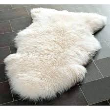 white faux fur chair throw sheepskin rug blanket cover plush home decorating ideas style