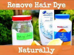 how to naturally remove hair dye with baking soda vitamin c and vinegar
